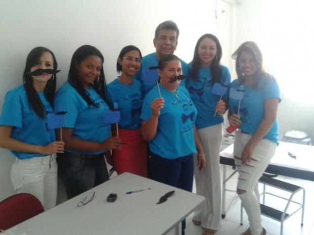 A coordenadora da Policlínica, Silvana Fonseca Pinto, e a equipe de profissionais da Policlínica de Alhandra