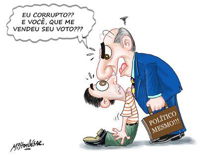 * O eleitor que vende o voto não pode reclamar do politico corrupto.