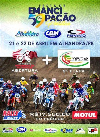 Paraibano e Arena Nordeste de motocross se encontram nas festividades de emancipação dos 59 anos de Alhandra