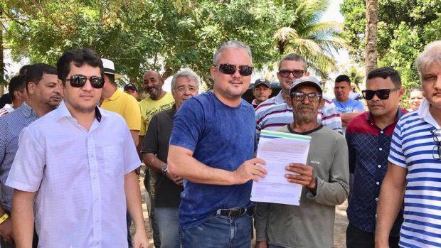 Prefeito de Alhandra autoriza perfuração de poços nas comunidades Vieira e Riacho, em Mata Redonda