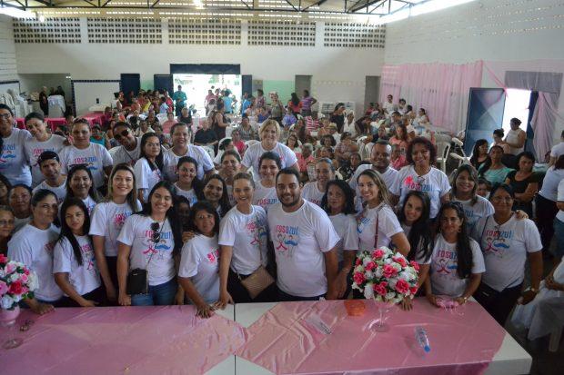 Mulheres ganham dia de saúde e beleza na cidade de Alhandra em alusão ao Outubro Rosa