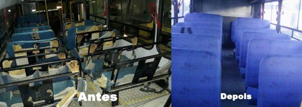 Vandalismo e prejuízo: Prefeitura de Alhandra recupera ônibus danificados por alunos
