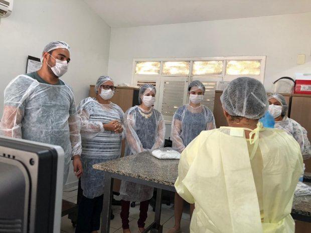 Prefeitura de Alhandra realiza treinamento com profissionais de saúde para coleta de material para detecção do COVID-19