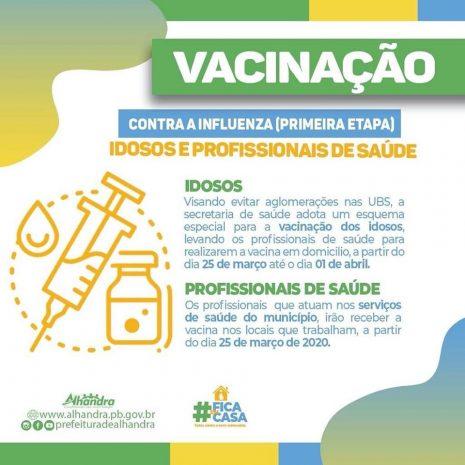 Saúde de Alhandra inicia vacinação domiciliar contra a gripe para idosos