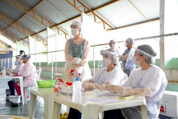 Parceria entre Prefeitura de Alhandra e Estado realiza testagem para Covid-19 em moradores sintomáticos e confirma 25 casos