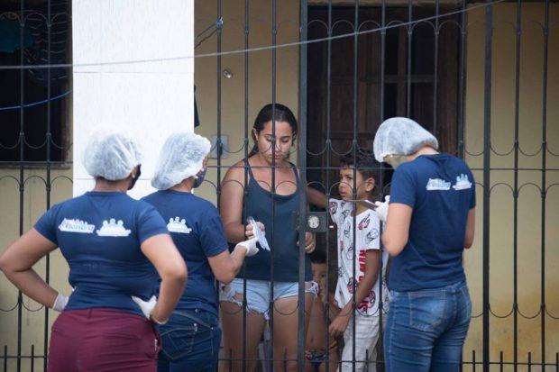 Prefeitura de Alhandra distribui máscaras de proteção à população, através da Secretaria de Ação Social